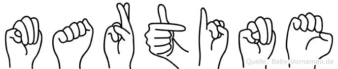 Martine in Fingersprache für Gehörlose