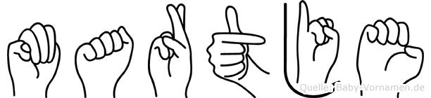 Martje in Fingersprache für Gehörlose