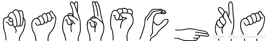 Maruschka im Fingeralphabet der Deutschen Gebärdensprache