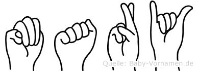 Mary in Fingersprache für Gehörlose