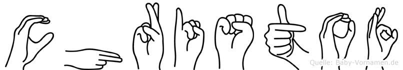 Christof in Fingersprache für Gehörlose