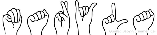 Maryla im Fingeralphabet der Deutschen Gebärdensprache