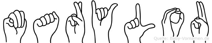Marylou im Fingeralphabet der Deutschen Gebärdensprache