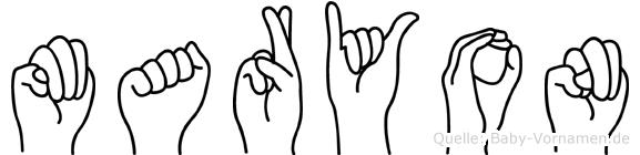 Maryon in Fingersprache für Gehörlose