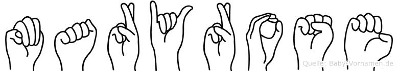 Maryrose im Fingeralphabet der Deutschen Gebärdensprache