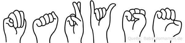Maryse in Fingersprache für Gehörlose