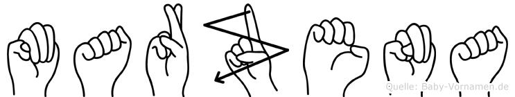 Marzena in Fingersprache für Gehörlose