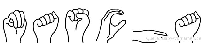 Mascha im Fingeralphabet der Deutschen Gebärdensprache