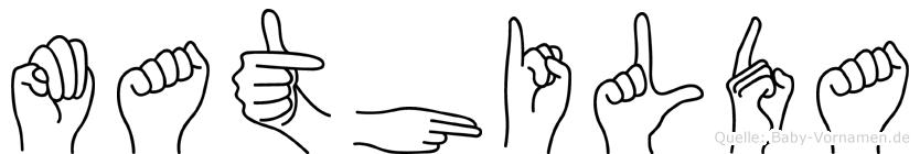 Mathilda in Fingersprache für Gehörlose