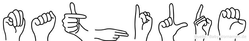 Mathilde in Fingersprache für Gehörlose