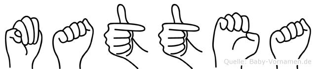 Mattea in Fingersprache für Gehörlose