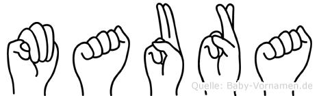 Maura in Fingersprache für Gehörlose