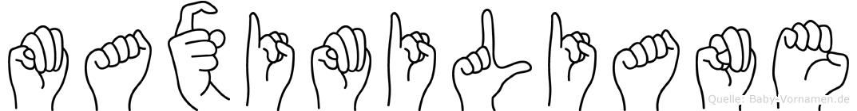Maximiliane im Fingeralphabet der Deutschen Gebärdensprache