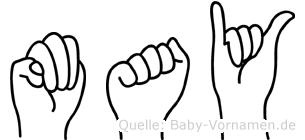 May in Fingersprache für Gehörlose