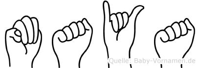 Maya in Fingersprache für Gehörlose