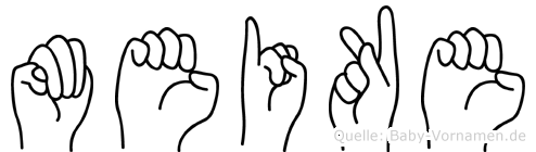Meike in Fingersprache für Gehörlose