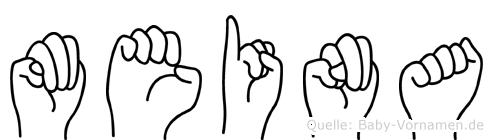 Meina in Fingersprache für Gehörlose