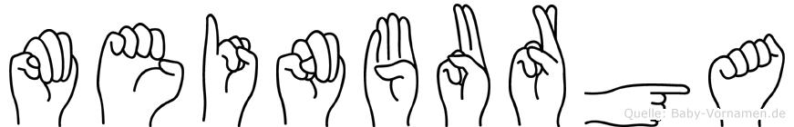 Meinburga in Fingersprache für Gehörlose