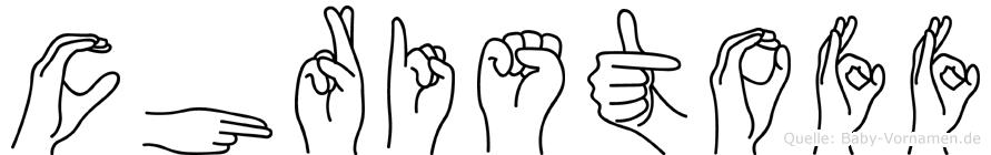 Christoff im Fingeralphabet der Deutschen Gebärdensprache