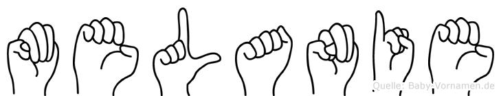 Melanie in Fingersprache für Gehörlose