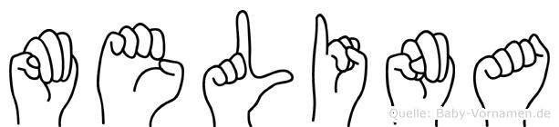 Melina in Fingersprache für Gehörlose