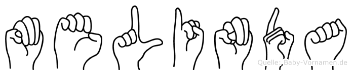 Melinda in Fingersprache für Gehörlose