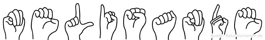 Melisande in Fingersprache für Gehörlose