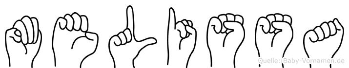 Melissa im Fingeralphabet der Deutschen Gebärdensprache