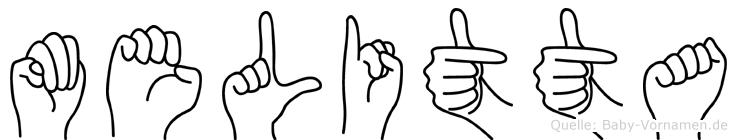 Melitta in Fingersprache für Gehörlose