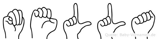 Mella in Fingersprache für Gehörlose