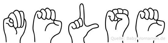 Melse im Fingeralphabet der Deutschen Gebärdensprache