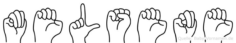 Melsene im Fingeralphabet der Deutschen Gebärdensprache