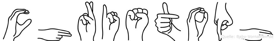 Christoph in Fingersprache für Gehörlose