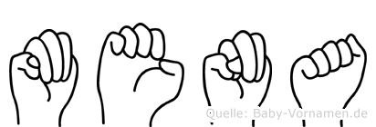 Mena in Fingersprache für Gehörlose