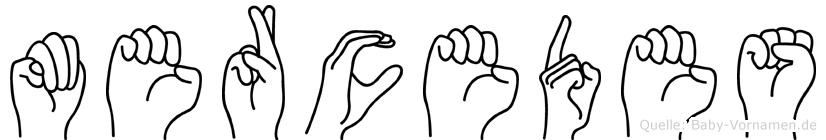 Mercedes im Fingeralphabet der Deutschen Gebärdensprache