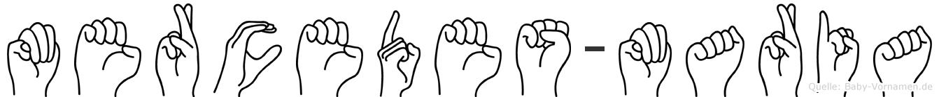 Mercedes-Maria im Fingeralphabet der Deutschen Gebärdensprache