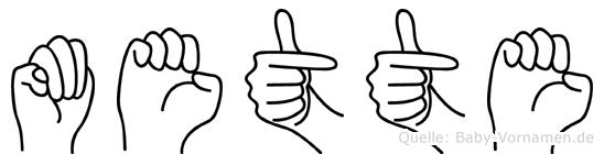 Mette in Fingersprache für Gehörlose