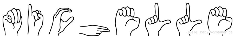Michelle in Fingersprache für Gehörlose