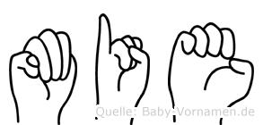 Mie im Fingeralphabet der Deutschen Gebärdensprache