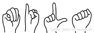 Mila in Fingersprache für Gehörlose