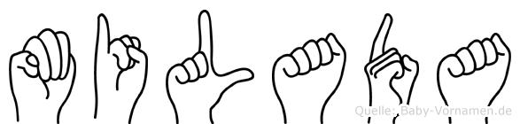 Milada in Fingersprache f�r Geh�rlose