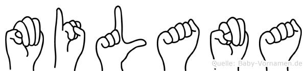 Milana in Fingersprache für Gehörlose