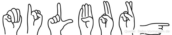 Milburg in Fingersprache für Gehörlose