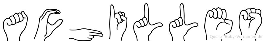 Achilles im Fingeralphabet der Deutschen Gebärdensprache