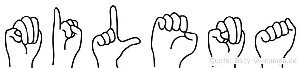 Milena in Fingersprache für Gehörlose