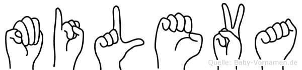 Mileva in Fingersprache für Gehörlose