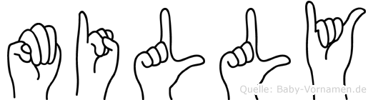 Milly in Fingersprache für Gehörlose