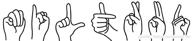 Miltrud im Fingeralphabet der Deutschen Gebärdensprache