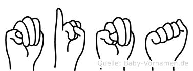 Mina in Fingersprache für Gehörlose