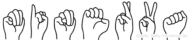 Minerva in Fingersprache für Gehörlose